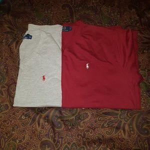 2 Ralph Lauren t shirts size XL